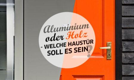 Aluminium oder Holz Haustueren