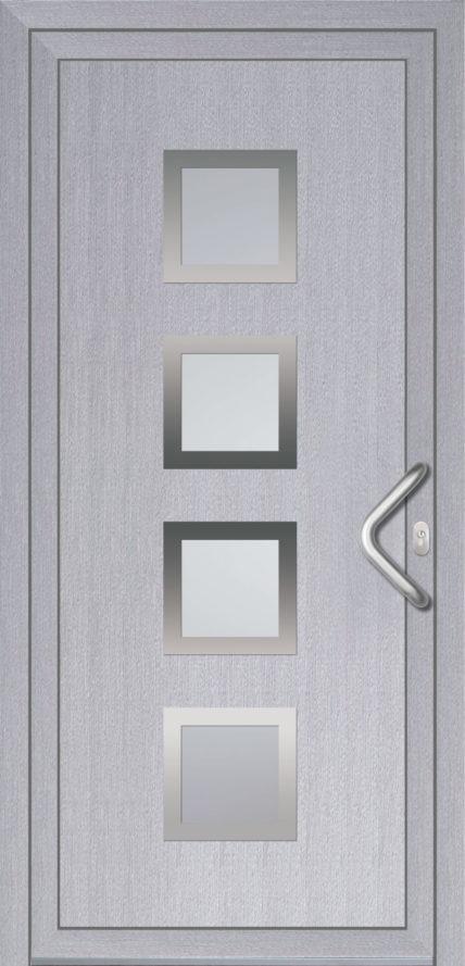 Graue Haustür aus Kunststoff von Oknoplast