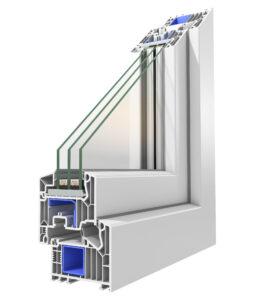 Systemecke Nebeneingangstür 82 mm weiß